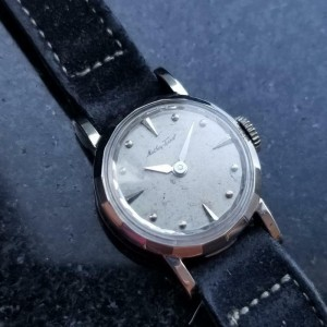Ladies Mathey-Tissot Solid 14K White Gold Cocktail Dress Watch, c.1950s MA105