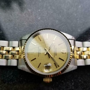 Mens Tudor Prince Oysterdate Ref.72033 32mm 14k & SS Automatic, c.1990s MA157