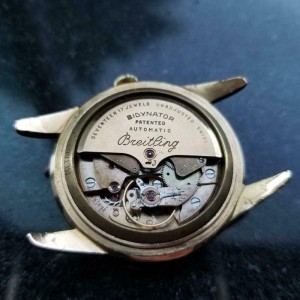 Mens Breitling Bidynator 35mm 18k Rose Gold Automatic w/Date, c.1960s MS112