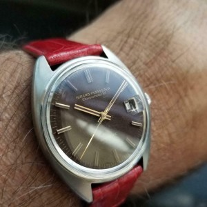 Mens Girard Perregaux Gyromatic 34mm Date Automatic, c.1960s Swiss LV838RED