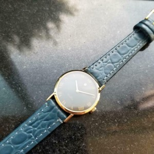 Ladies Rolex Cellini Geneve 4109 26mm 18k Gold Hand-Wind, c.1970s Swiss LV858BLU