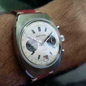 Mens Breitling Datora Ref.592 38mm Hand-Wind Chronograph c.1960s Swiss LV897RED