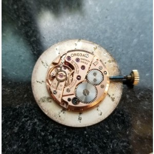 Mens Midsize Omega 31mm 14k Gold Hand-Wind Dress Watch c.1960s Vintage MS202