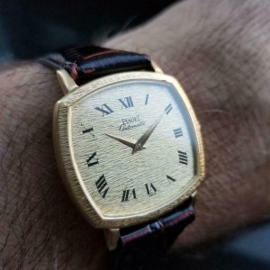 Mens Piaget ref.13406 32mm 18k Gold Automatic Dress Watch c.1980s Swiss MS209