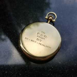 Tiffany & Co Rare Solid 18K Gold Pocketwatch, Comor Movement, c.1980 Swiss MS219