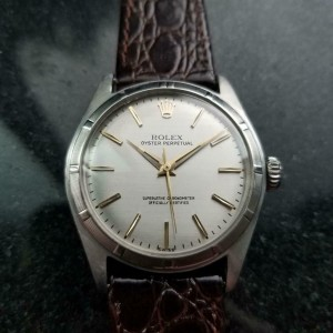 Mens Rolex Oyster Perpetual 6107 34mm Automatic, c.1960s Swiss Vintage LV903BRN