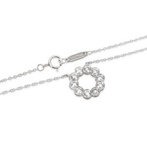 Tiffany & Co. Diamond Circle Necklace in Platinum (0.80 CTW)