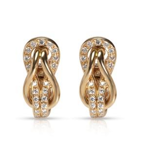 Cartier Love Knot Diamond Earrings in 18K Yellow Gold 0.42 CTW