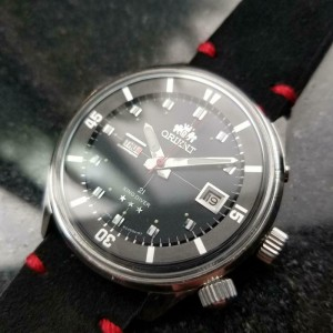 Mens Orient King Diver 42mm Day Date Automatic, c.1960s Stainless Japan Y2