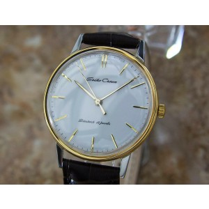 Mens Seiko Crown 35mm Gold-Plated Hand-Wind Dress Watch, c.1960s Vintage Y32