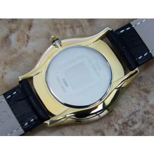 Mens Givenchy Paris Elitis 36mm Gold-Plated Quartz Dress Watch c.2000s Swiss Y79