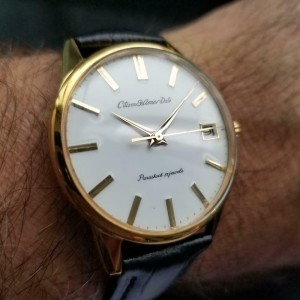 Mens Citizen Homer Date 36mm Gold-Capped Hand-Wind, c.1960s Vintage Y96