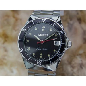Orient King Diver 34mm Hand-Wind Stainless-Steel w/Date, c.1970s Vintage YY52