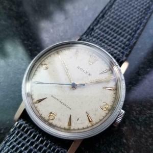 Mens Rolex ref.3742 33mm Hand-Wind Dress Watch c.1930s Swiss Vintage MS101BLU