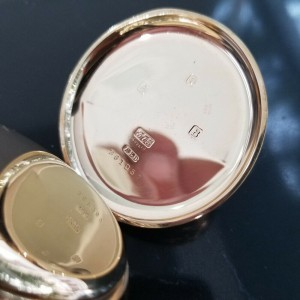Rolex 50mm 9ct Rose Gold Open Face Pocket Watch , c.1940s Unrestored MA184