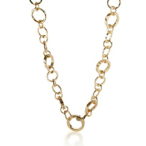 Tiffany & Co. Circle Link Chain Necklace in 18K Yellow Gold