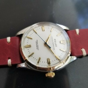Mens Rolex Oyster Perpetual 6566 34mm 18K & SS Automatic, c.1950s Swiss MA172RED