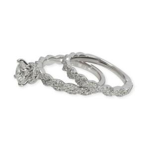 Neil Lane Diamond Engagement Wedding Set in 14KT White Gold 1.00 CTW