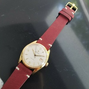 Mens Rolex Oysterdate Precision 6294 34mm Gold-Capped Hand-Wind c.1950s MA186RED