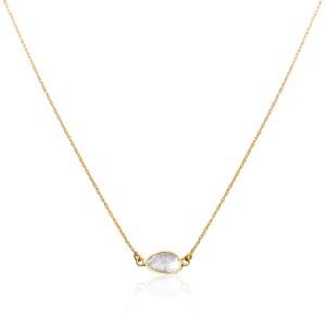 Rock & Divine Dawn Collection Sunlight Diamond Slices Necklace 18K Gold 0.20 CTW