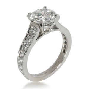 Cartier 1895 Diamond Engagement Ring in  Platinum H VS1 2.19 CTW