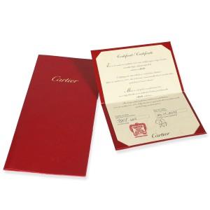 Cartier Love Diamond Hoop Earring in 18K Rose Gold 0.14 CTW