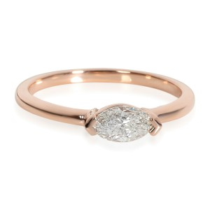GIA Certified Marquise Cut East West Ring in 14K Rose Gold (0.50 ct G/I1)