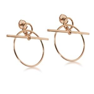 Hermès Small Model Loop Earring in 18K Rose Gold