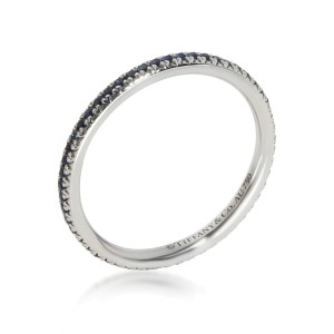 Tiffany & Co. Soleste Blue Sapphire Eternity Band in 18K White Gold