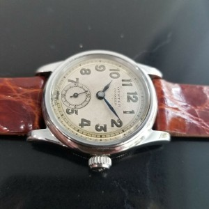 Midsize Rolex Oyster Pioneer 3373 29mm Hand-Wind Military Watch, c.1930s MA190