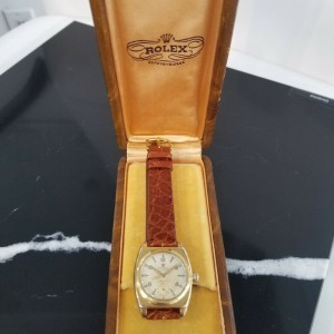 Mens Rolex Oyster Precision 3116 29mm Gold-Capped Hand-Wind, c.1940s w/Box MA193