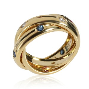 Cartier Vintage Russian Trinity Diamond Ring in 18K Yellow Gold 0.15 CTW