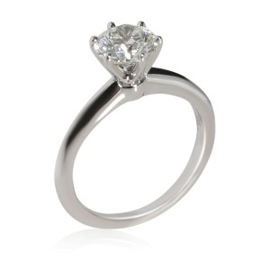 Tiffany & Co. Diamond Solitaire Engagement Ring in  Platinum G VS1 1.05 CTW