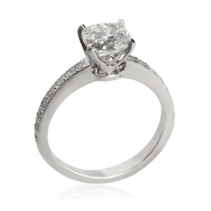 Tiffany & Co. Novo Diamond Engagement Ring in Platinum H VS2 1.17 CTW