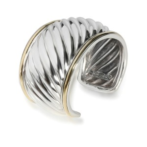 David Yurman Cable Cuff in 18K Yellow Gold/Sterling Silver