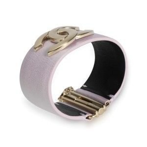 Chanel CC Pink Leather Cuff