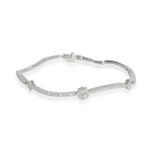 Birks Diamond Flower Bracelet in 18K White Gold 0.89 CTW