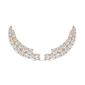 Diamond Earring Climbers in 14KT Gold