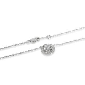 James Allen Halo Diamond Diamond Necklace in 18K White Gold GIA D FL 1.15 CTW