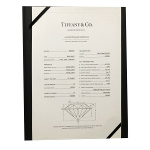 Tiffany & Co. Novo Diamond Engagement Ring in  Platinum 0.55 CTW