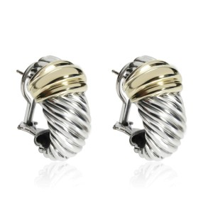 David Yurman Cable Classics Shrimp Earring in 14K Yellow Gold/Sterling Silver