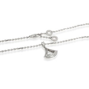 Bulgari Divina Diamond Pendant in 18K White Gold 0.19 CTW
