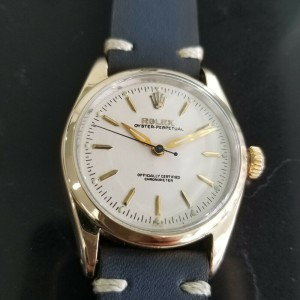 Mens Rolex Oyster Pereptual Ref.6634 34mm Gold-Capped Automatic, c.1950s RA141