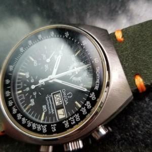 Men's 1980s Omega Speedmaster Mark 4.5 42mm Automatic Chronograph Swiss LV295GRN