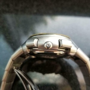 Mens 1970s Omega Speedsonic 44mm Quartz Chronograph Watch Swiss Vintage LV109