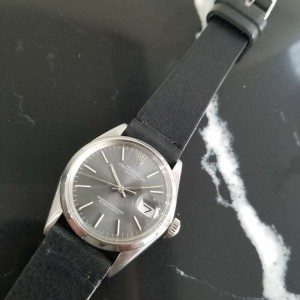 Mens Rolex Oyster Perpetual Date Ref.1500 35mm Automatic, c.1970s Swiss RA110BLK