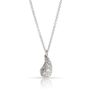 Tiffany & Co. Elsa Peretti Mini Diamond Teardrop Pendant in  Platinum 0.75 CTW