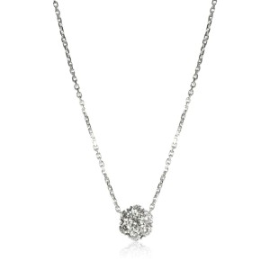 Van Cleef & Arpels Fleurette Diamond Necklace in 18K White Gold 1.02 CTW