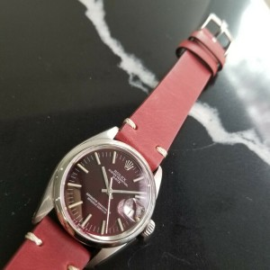 Mens Rolex Oyster Perpetual Date 1501 35mm Automatic c.1960s Vintage RA111RED
