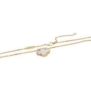 Van Cleef & Arpels Vintage Alhambra Mother Of Pearl Necklace in 18K Yellow Gold